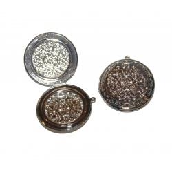 boite pendentif métal argenté