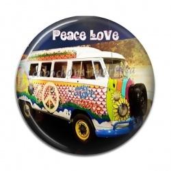 Cabochon Résine - peace love