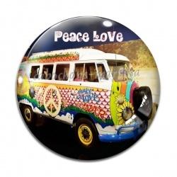 Cabochon Verre - peace love