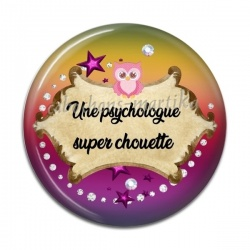 Cabochon Résine - Une psychologue super chouette