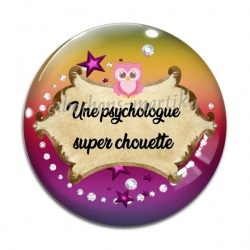 Cabochon Verre - Une psychologue super chouette