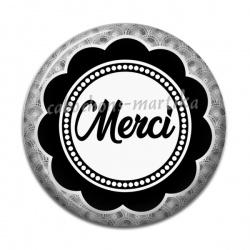 Cabochon Résine - merci