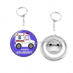 Porte clés décapsuleur - super ambulancier