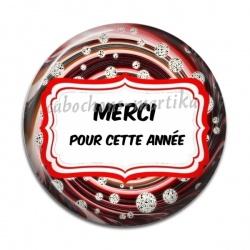 Cabochon Résine - MERCI POUR CETTE ANNÉE