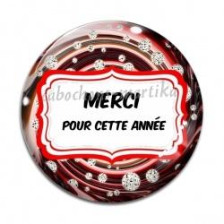 Cabochon Verre - MERCI POUR CETTE ANNÉE
