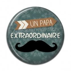 Cabochon Résine - papa extraordinaire
