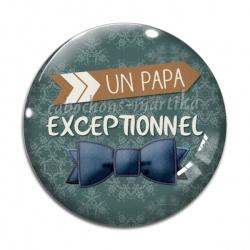 Cabochon Verre - papa exceptionnel