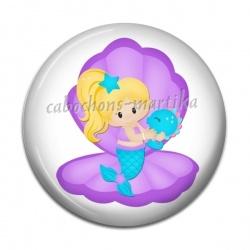 Cabochon Résine - petite siréne fairy