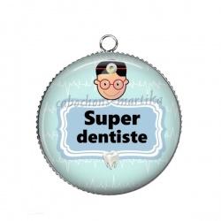 Pendentif Cabochon Argent - super dentiste