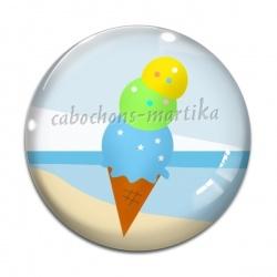 Cabochon Verre - glace