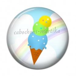 Cabochon Résine - glace
