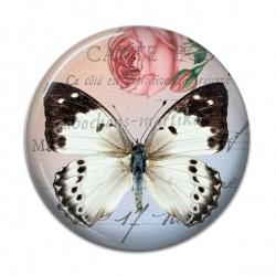 Cabochon Résine 50mm - papillon