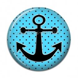 Cabochon Résine - ancre bateau