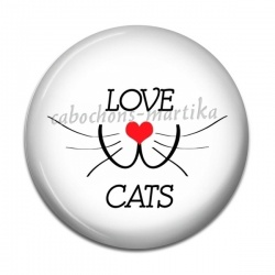 Cabochon Résine - love cats