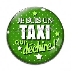 Cabochon Verre - taxi