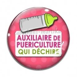 Cabochon Verre - auxiliaire puericultrice