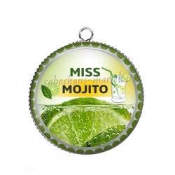 Pendentif Cabochon Argent - miss mojito