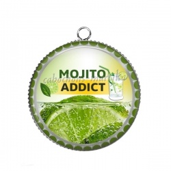Pendentif Cabochon Argent - mojito addict