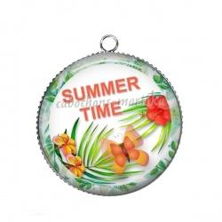 Pendentif Cabochon Argent - summer time