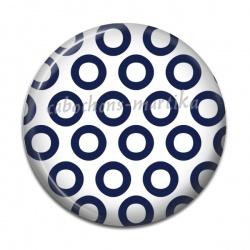Cabochon Résine - pois bleu
