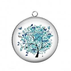 Pendentif Cabochon Argent - arbre