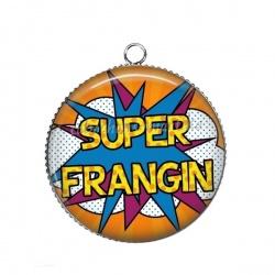 Pendentif Cabochon Argent - super frangin