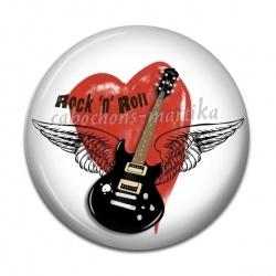 Cabochon Résine - rock n roll