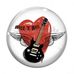 Cabochon Verre - rock n roll