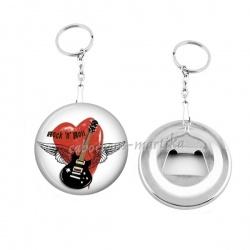Porte clés décapsuleur - rock n roll
