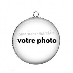 Pendentif Cabochon Argent - personnaliser votre cabochon avec une photo