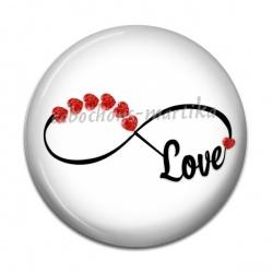 Cabochon Résine - signe infini love
