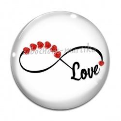 Cabochon Verre - signe infini love