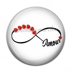 Cabochon Résine - signe infini amour