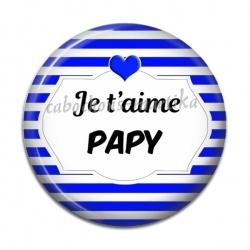 Cabochon Résine - je t'aime papy