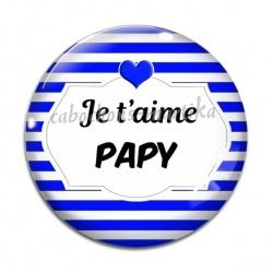 Cabochon Verre - je t'aime papy
