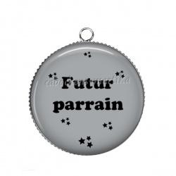 Pendentif Cabochon Argent - futur parrain