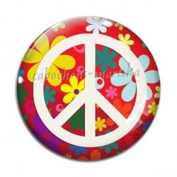 Cabochon Verre - peace