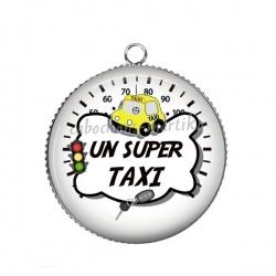 Pendentif Cabochon Argent - un super taxi