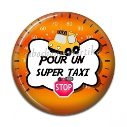 Cabochon Résine - pour un super taxi