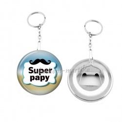 Porte clés décapsuleur - super papy