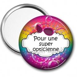 Miroir de poche - pour une super opticienne