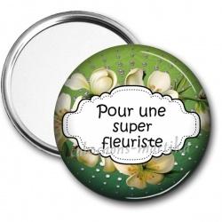 Miroir de poche - pour une super fleuriste