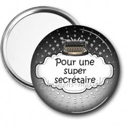 Miroir de poche - pour une super csecretaire