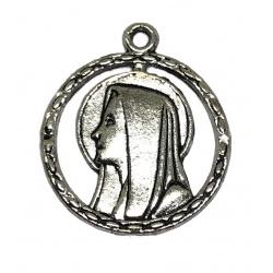 Breloque vierge métal argenté
