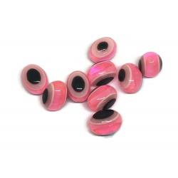 10 perles ovale oeil rose