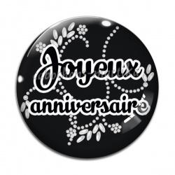 Cabochon Verre - joyeux anniversaire