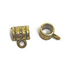 1 perle pour breloque métal doré 10 mm