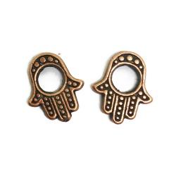 perles main de fatma métal cuivre