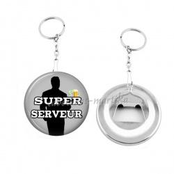 Porte clés décapsuleur - super serveur