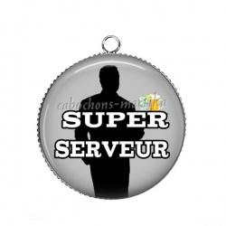 Pendentif Cabochon Argent - super serveur